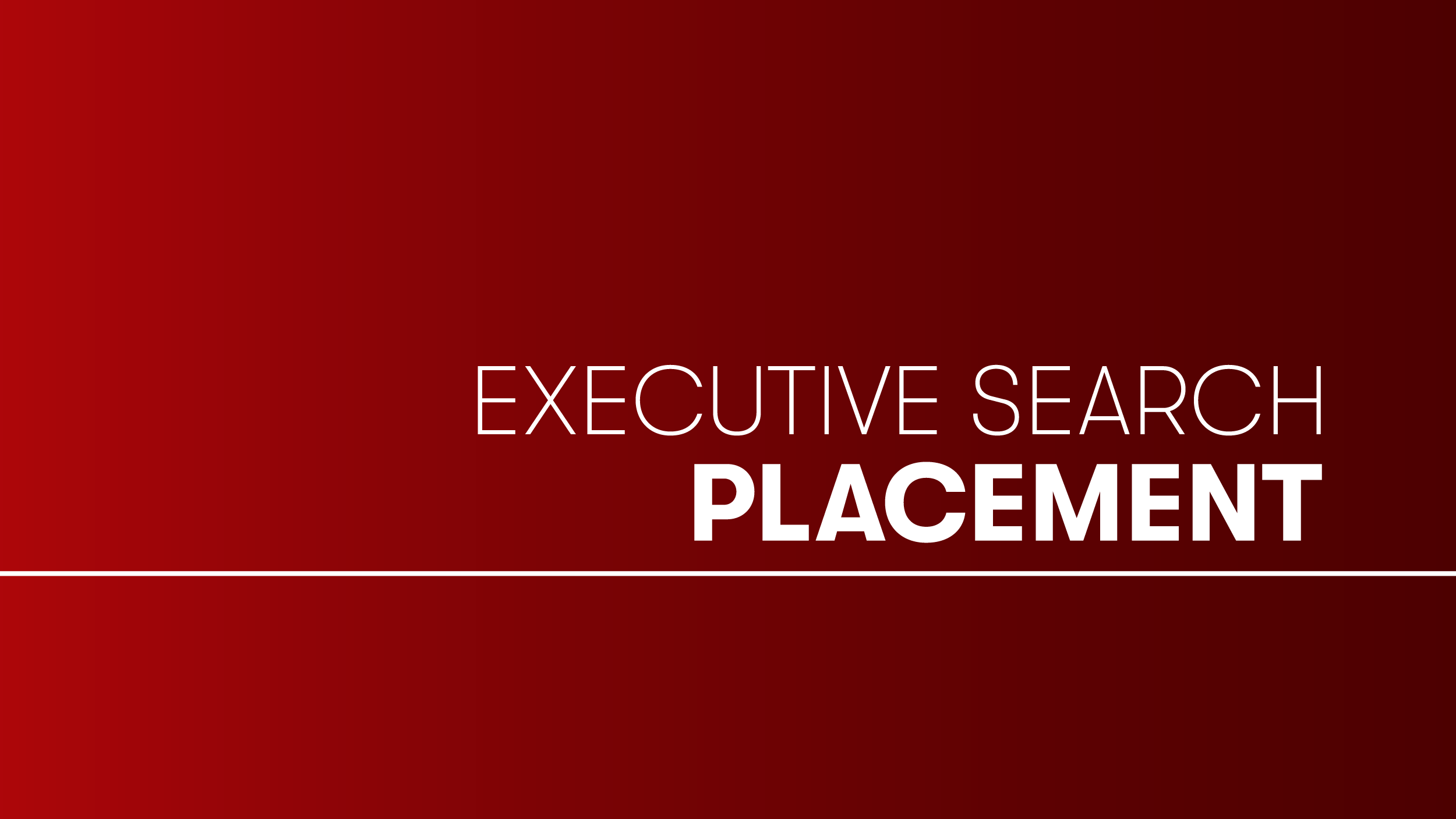 Executive Search Placement