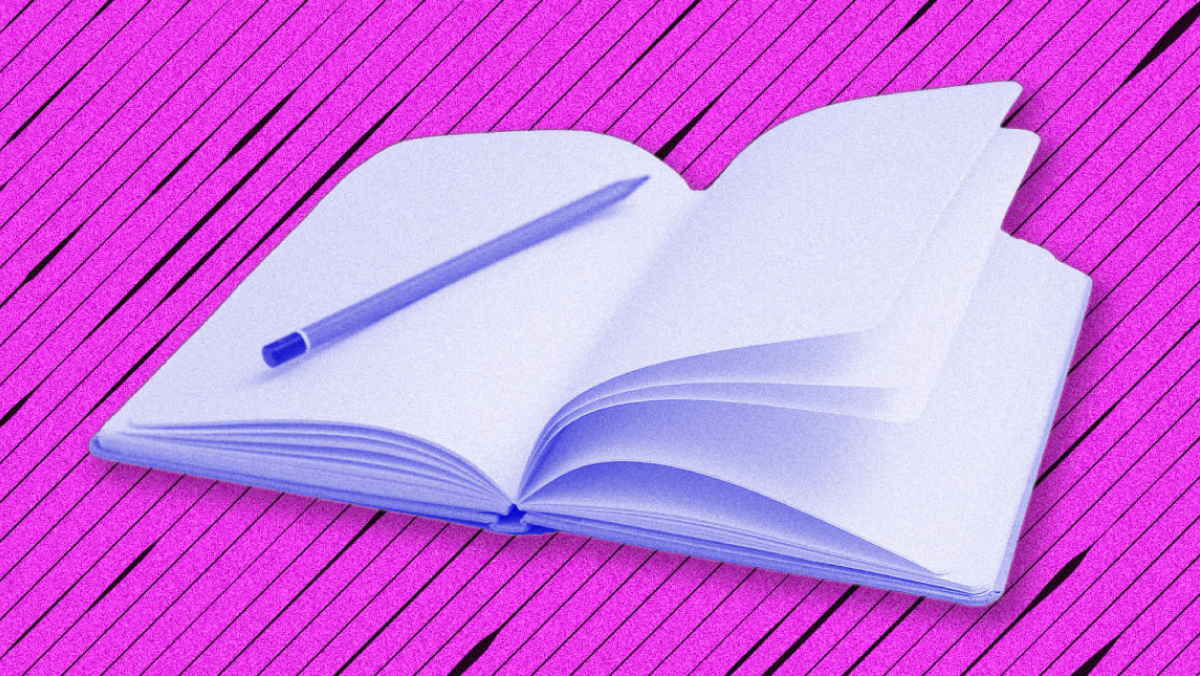 Journal with Pink Background